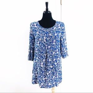 ANTHROPOLOGIE Fig & Flower Paisley Kendra Tunic